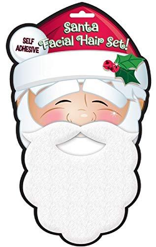 Fancy Me Selbstklebendes Weihnachtsmannkostüm, Schnurrbart & Bart Weihnachtsmann Weihnachten Festliches Kostüm Outfit ()