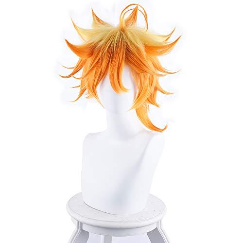 Coaplay Kostüm - RedJade Anime The Promised Neverland Emma Wig Coaplay Perücke für Kostüm Orange