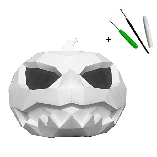 Rcraftn Halloween Kostüm Party Requisiten DIY Papier Kürbis Kopf Maske Set Horror Kopfbedeckungen Für Erwachsene Cosplay Party Festivals Dekoration