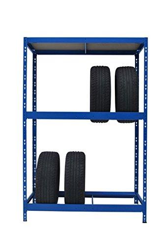 Reifenregal Reifenständer Werkstattregal für 8 Reifen plus 1 Boden 50 cm tief