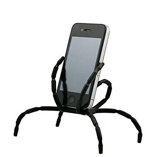 Koala Group® Flexible Spinne beweglichen Standplatz / Auto-Halterung Halter Universaltelefon -Auto-Halter Halterung und Ständer für iPhone 6 6s 6Plus, 6S plus, 5S, 5C, 5, 4S, Samsung Galaxy & Android und mehr (Black)
