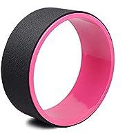 JINHONGH Rueda de Yoga Novato Assisted Yoga Circle Rueda Auxiliar Back Bend Artifact Yoga Aid (Color : Black Pink)