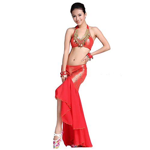 dancewear-danza-del-ventre-custome-sling-cion-bra-ice-silk-package-anca-gonna-red