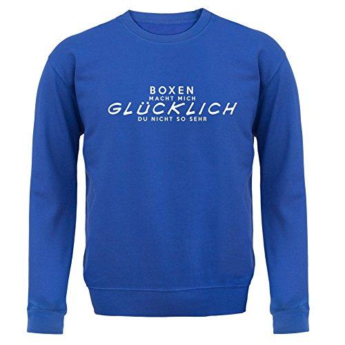 Boxen macht mich glücklich - Unisex Pullover/Sweatshirt - 8 Farben Royalblau