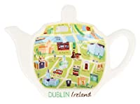 Map Of Dublin Designed Tea Bag Holder