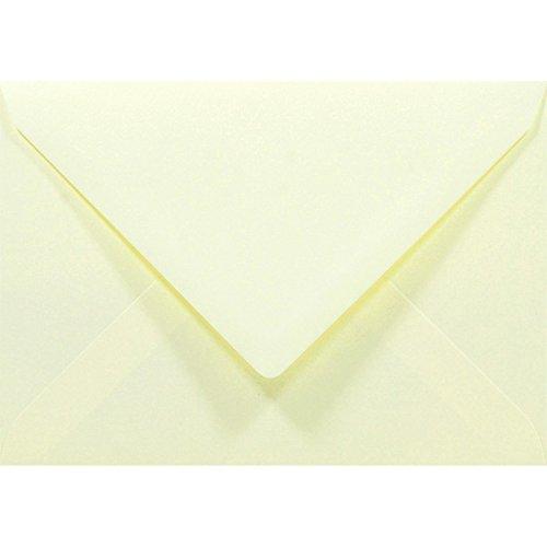 100 Stück Creme Briefumschläge in DIN C6 Spitzklappe Rainbow 80g Ideal für Hochzeit, Weihnachten, Grußkarten und Einladungen.