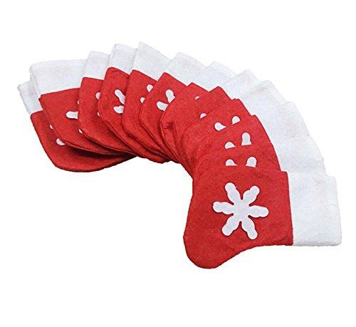 Leisial 12pcs decorazioni natalizie stoviglie piatto natale mini calzini