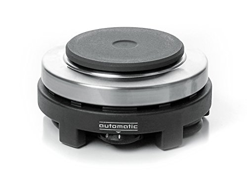 ROMMELSBACHER RK 501 Reise-Kochplatte (Made in Germany, klein, kompakt & leistungsstark, für Büro, Gartenlaube, Reise, 500 W) Edelstahl/schwarz