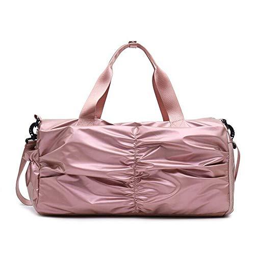 Frauen Fitness-Tasche Freizeit Travel Tote Bag Große Kapazität Schulter Diagonale Reisetasche,Pink,L - Sportliche Travel Tote