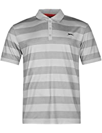 Slazenger Homme Bold Rayure Polo Shirt T-Shirt Tee Top Haut Manches Courtes