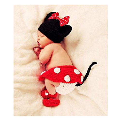 Imagen de cle de tous  disfraz de animal para bebé recién nacido infantil baby para fotografía minnie