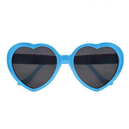 TOOGOOR-Fashion-Nette-Retro-Liebe-Herz-Form-Lolita-Sonnenbrille-Abendkleid-Partei-HOT-himmelblau
