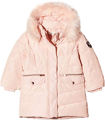 NAME IT Mädchen NMFMELA DOWN Jacket Camp Jacke, Rosa Detail: with Strawberry Cream Color Fur, 122 -