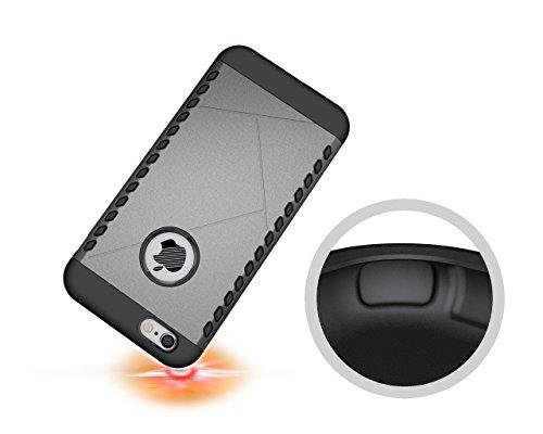CruzerLite Spartan Dual Protection Hülle für Apple iPhone 6S Plus teal Metal
