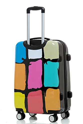 Reisekoffer 2060 Hartschalen Trolley Kofferset in 12 Motiven SET--XL-L--M-- Beutycase (Painting (Graffiti), M(Handgepäck)) - 3