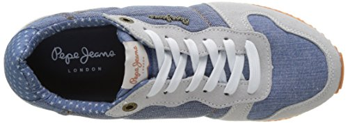 Pepe Jeans London Damen Gable Denim Combi Sneaker Blau (AZZURRO)