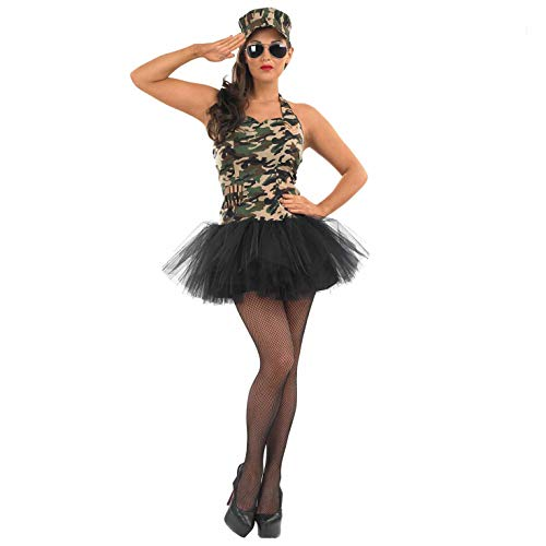 Fun Shack FN3358XL Kostüm, Army Tutu, Women: 20-22 Camouflage Womens Hut