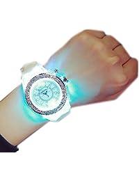 relojes de hombre deportivos relojes de mujer baratos, Sannysis Relojes deportivos de pulsera de cuarzo resistente al agua con TPU correas - Luz de fondo LED - banda de silicona