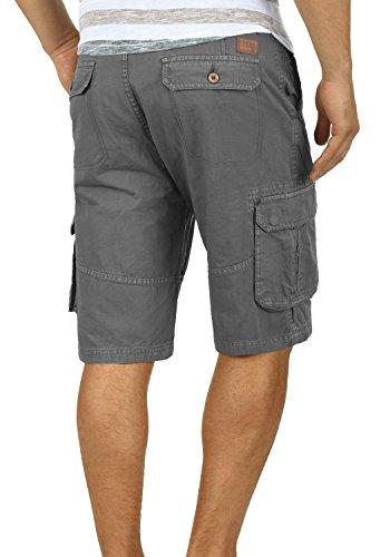 BLEND Renji Herren Cargo-Shorts kurze Hose mit Taschen aus 100% Baumwolle Granite (70147)