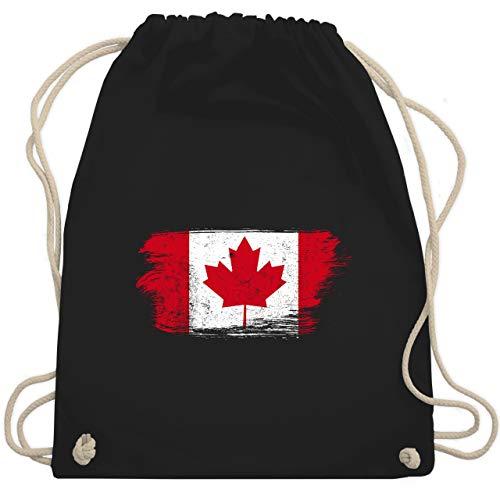 Städte & Länder Kind - Kanada Vintage - Unisize - Schwarz - WM110 - Turnbeutel & Gym Bag (Kanada-stoff)