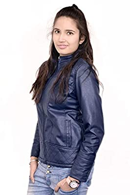 AD & AV Womens Fullsleeve Leather Jacket 953_Womens_JKET_Leather_Blue_EE