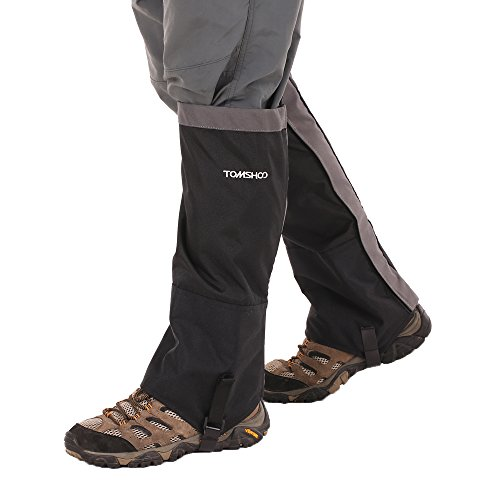 gamaschen schnee TOMSHOO Gamaschen Outdoor Wasserdichte Gaiter für Outdoor-Hosen zum Wandern, Klettern und Schneewandern 1 Paar