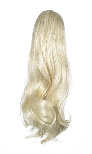 Love Hair Extensions - LHE/N/VICTORIAN/CC/60 - Prime de Fibres Victorian - Pince Crocodile - Queue de Cheval - Couleur 60 - Blond Pur