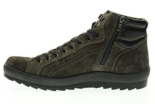 IGI&CO 66781 grigio antracite scarpe uomo scarponcini camoscio lacci mid Antracite