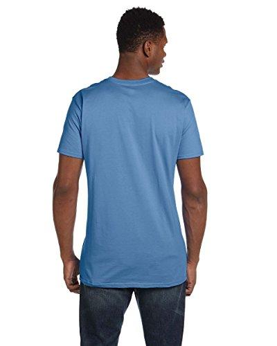 T-Rex Slider auf American Apparel Fine Jersey Shirt Blau - Carolina Blue