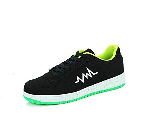 Chaussures de sport pour hommes sneaker chaussures sport air chaussures black green
