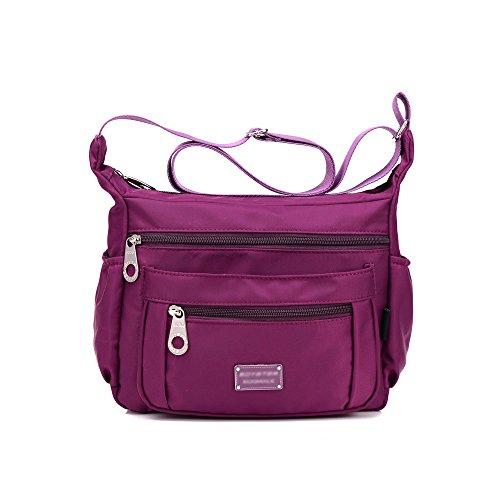 SUNRAY-BUY, Borsa a tracolla donna Purple