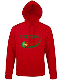 Supportershop Sweat à Capuche Portugal Homme, Rouge, FR : 2 XL (Taille Fabricant : XXL)