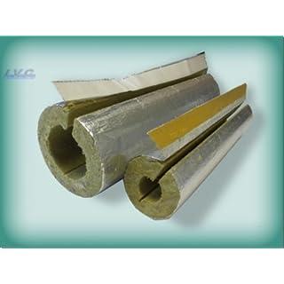 Steinwolle Rohrisolierung alukaschiert 48 x 20 mm 50% ENEV