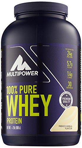 Multipower 100 % Whey Protein Vanilla 900 g, 1er Pack (1 x 900 g)