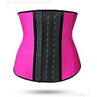 HL-cinta cerrada cuerpo pulsando la hebilla de la correa de acero incluye un cinturón de plástico abdomen cinturón,Rosa roja,XXXS