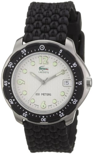 Lacoste 1000G 13 - Reloj analógico unisex de cuarzo con correa de plástico negra