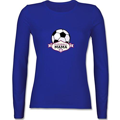 Muttertag - Fußball Mama - tailliertes Longsleeve / langärmeliges T-Shirt für Damen Royalblau