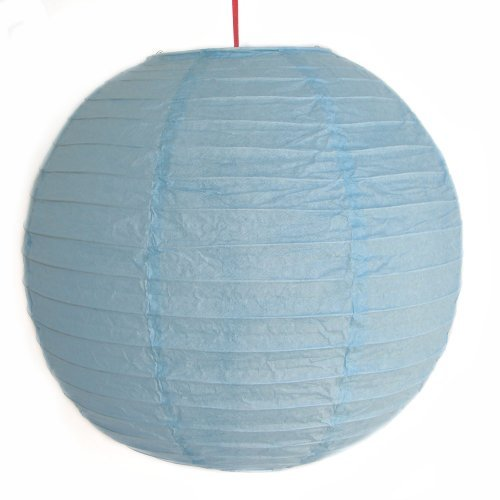Feng Shui Importación 2de color azul cielo Linternas de papel