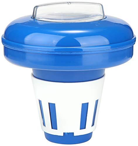 com-four® Dosierschwimmer für den Pool - Chemikalienspender für Chlor- oder Bromtabletten - zur dosierten Abgabe von Poolzusätzen (Brom Chemikalien Whirlpool)
