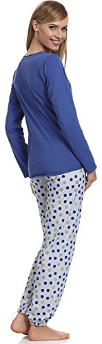 Merry Style Damen Schlafanzug 965 Navy/Melange
