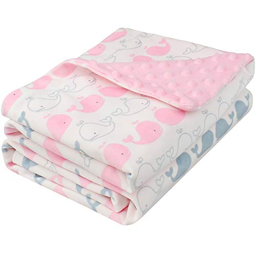 Lifetree coperta in pile neonato, morbida & calda minky coperta in peluche copertina neonato, regalo perfetto per il bambino