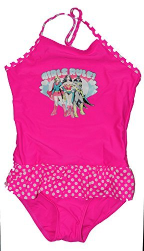 DC Comics Mädchen Regel One Piece Badeanzug Kleinkind Mädchen 2T Farbe: pink Größe: 2T (Baby/Babe/Infant–Kleinen) (2t Badeanzug)