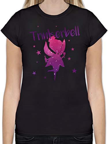 JGA Junggesellinnenabschied - Trinkerbell - M - Schwarz - L191 - Tailliertes Tshirt für Damen und Frauen T-Shirt