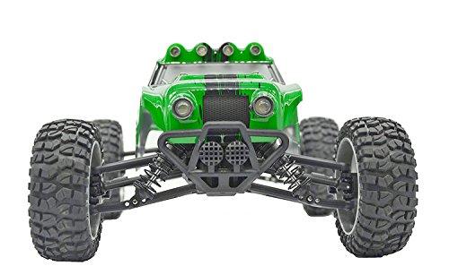 tecesy 1/122.4G 4WD Elektro gebürstet RC Auto Wasserdicht RC Buggy Off Road, mit LED-Lichtern (Armee Grün)