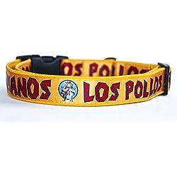 Breaking Bad Los Pollos Hermanos Collar Perro Hecho a Mano Talla L con Correa a juego de 180 cm Dog Collar HandMade