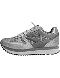 93675ee54cab9 LOTTO Tokyo Wedge W sneakers lacci PELLE SILVER METAL GRAY T0887 inverno  2018