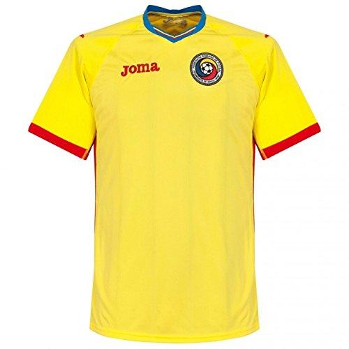 Joma–T Shirt Rumänien, Farbe Yellow, Größe S (Joma Fußball)