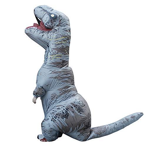 Rex Kostüm Kleinkind T - WJHCE Jurassic Aufblasbare T-Rex Kostüm Funny Weihnachten Cosplay für Erwachsene,Gray,Kids