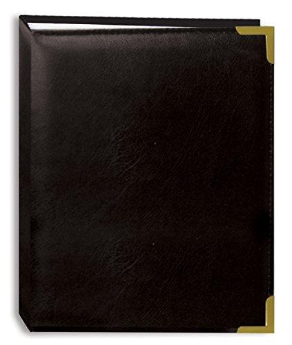 Pioneer Foto Alben 100-pocket schwarz genäht Kunstleder Cover mit Messing Ecke Akzente Fotoalbum, 4von 6 (Genähte Akzente)