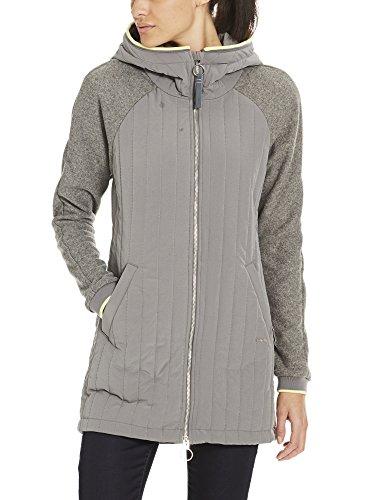Bench Damen Mantel Core Slim Material MIX Coat Grau (Dark Grey Gy149), Large